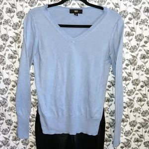 Mossimo- Blue/Knit V-Neck Sweater